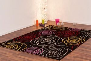 NAZAR - tapis freestyle 120x170 black - Tapis Contemporain