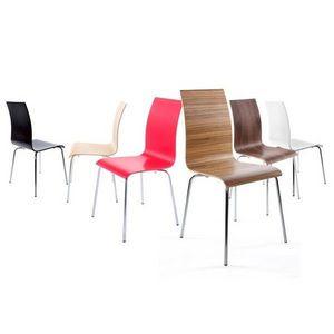 KOKOON DESIGN - chaises design bois et chrome elegance - Chaise