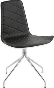 KOKOON DESIGN - chaise capiton en simili-cuir - Chaise
