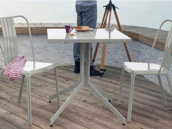 PROLOISIRS - ensemble urban 1 table 2 chaises en aluminium ligh - Salle À Manger De Jardin