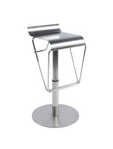 KOKOON DESIGN - tabouret de bar design en métal brossé - Chaise Haute De Bar