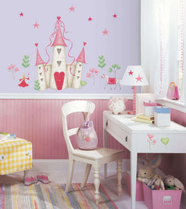 RoomMates - stickers repositionnables ch�teau de princesse 21 - Sticker D�cor Adh�sif Enfant