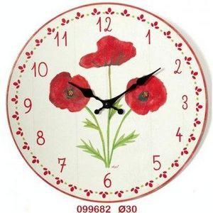 FAYE - horloge coquelicot - Horloge Murale
