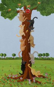 FRANÇOISE LEBLOND - toile sur châssis allez... circulez de françoise l - Tableau Décoratif Enfant