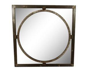 AMBIANCE COSY - miroir carré en métal - Miroir