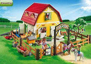 PLAYMOBIL - ranch avec poneys - Animaux De La Ferme (jouets)