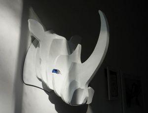 SYLVIE DELORME - rhinocéroce - Sculpture Animalière