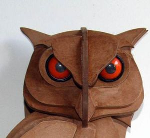 SYLVIE DELORME - hibou - Sculpture Animali�re