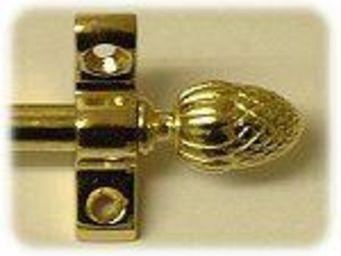 Moquettes A3C CARPETS - tringles celtic 72.5cm - d�cor laiton poli - Barre De Moquette D'escalier