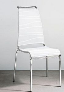 Calligaris - chaise italienne air high en tissu coloris blanc d - Chaise