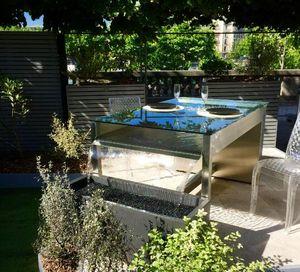 JARDITOUR - table fontaine-- - Fontaine Centrale D'extérieur