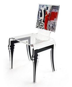 ACRILA - chaise transparente acrila graph - Chaise