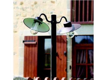 Roger Pradier - lampadaire belcour n°5 double - Lampadaire De Jardin