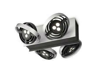 Philips - spot / plafonnier led radar aluminium - Spot Halogène