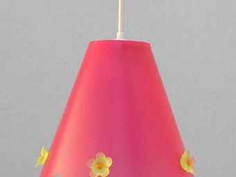 R&M COUDERT - julie fleur - suspension framboise h21cm | lustre - Suspension Enfant