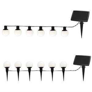 Best Season - balls combo - guirlande extérieur solaire 6 boules - Lampe Solaire