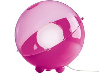 Koziol - orion - lampe à poser rose/rose transparent ø32,9c - Lampe À Poser