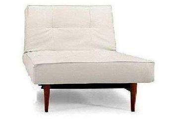 INNOVATION - splitback wood fauteuil blanc convertible design i - Fauteuil