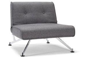 INNOVATION - fauteuil lit design clubber gris convertible 113*1 - Fauteuil Bas