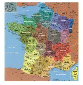 LES PARISETTES - carte des régions - Puzzle