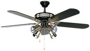 EVT/ Casafan - Ventilatoren Wolfgang Kissling - ventilateur de plafond, black magic, classique 132 - Ventilateur De Plafond
