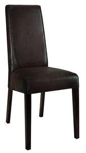 COMFORIUM - lot de 2 chaises en tissu coloris brun - Chaise