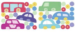 Wallies - stickers chambre bébé en voiture - Sticker Décor Adhésif Enfant