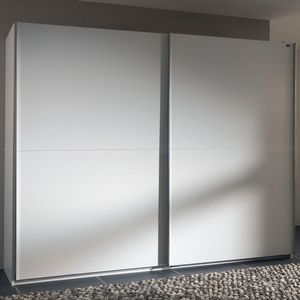 WHITE LABEL - dressing à portes coullissantes light 300 blanc - Armoire Dressing