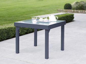 WILSA GARDEN - table jardin modulo 90-180cm gris - Table De Jardin