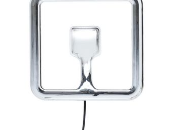 Kare Design - applique carrée clip chrome led - Applique