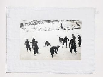 SERIE LIMITE LOUISE - neige - Torchon