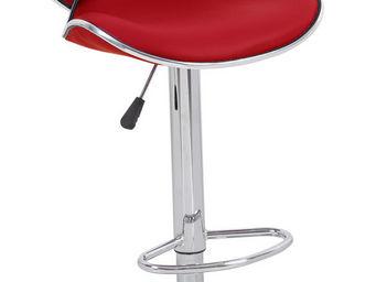 Cotton Wood - tabouret de bar leo rouge - Chaise Haute De Bar