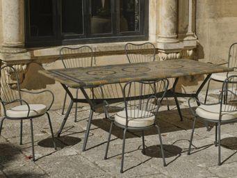 HEVEA - table de jardin 2m et fauteuils edna - Salle À Manger De Jardin