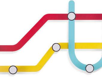 Umbra - porte manteaux design mural subway - Patère