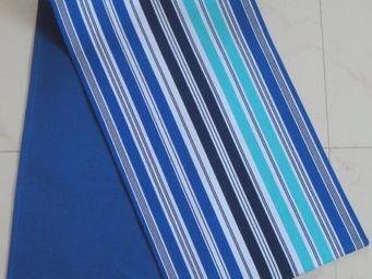 ITI  - Indian Textile Innovation - stripes - blue - Chemin De Table