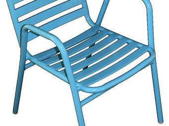 WILSA GARDEN - fauteuil de jardin à lattes retro - Fauteuil De Jardin
