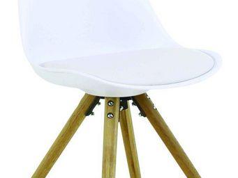 ID'CLIK - chaise design cross (lot de 2) blanc - Chaise