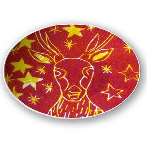 la Magie dans l'Image - assiette cerf etoilé rouge - Assiette De Présentation