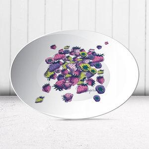 la Magie dans l'Image - assiette fraises - Assiette De Présentation