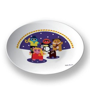 la Magie dans l'Image - assiette héros muppet - Assiette De Présentation