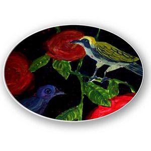 la Magie dans l'Image - assiette oiseaux de nuit - Assiette De Présentation