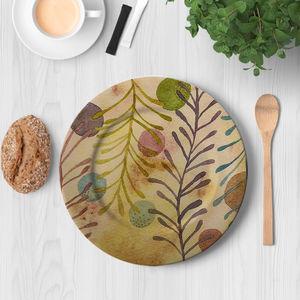 la Magie dans l'Image - assiette végétal beige - Assiette De Présentation