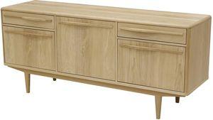ZAGO - meuble bas plaqué chêne et chêne blanchi kol 3 por - Meuble Tv Hi Fi