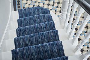 Roger Oates - kasuri indigo - Tapis D'escalier