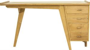Delorm design - bureau 4 tiroirs en teck massif - Bureau