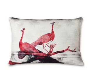 BIANKA LEONE - paons sauvages - Coussin Rectangulaire