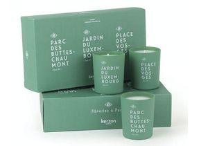 KERZON - le coffret flâneries à paris - Bougie Parfumée