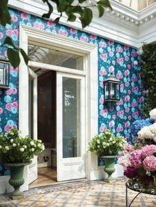 MATTHEW WILLIAMSON - navy duchess garden - Papier Peint