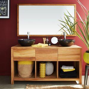 BOIS DESSUS BOIS DESSOUS - meuble de salle de bain en bois de teck 145 cm - Meuble De Salle De Bains