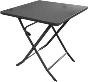 PROLOISIRS - table pliante en acier nonza - Table De Jardin Pliante